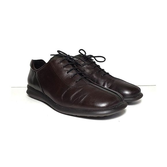 Ecco leather lace up dress loafer shoes size 7.5